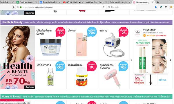 Website bán hàng trực tuyến mua mỹ phẩm thái tốt nhất