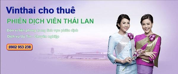 Cho thuế hướng dẫn viên Thái Lan