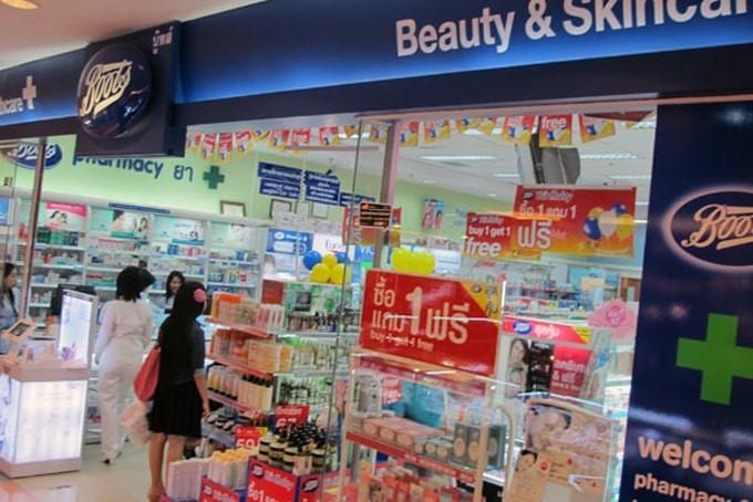 Thái Lan có rất nhiều siêu thị mỹ phẩm uy tín