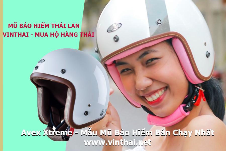 Avex Xtreme là mũ bảo hiểm Thái Lan bán chạy hiện nay