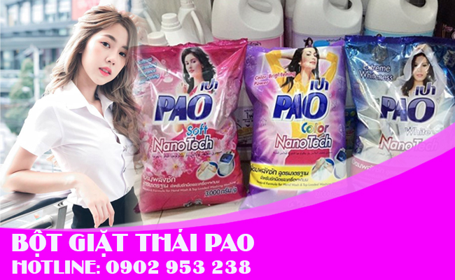 Bột giặt thái lan thương hiệu PAO nổi tiếng